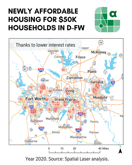 newly affordable housing to households in dallas fort worth